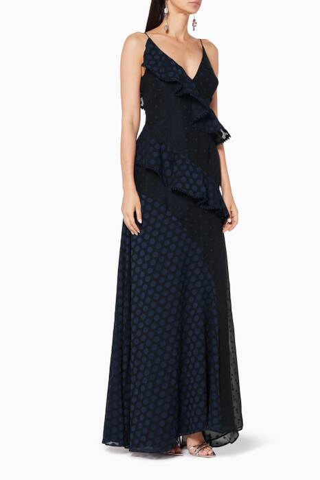 Navy See You Know Sleeveless Gown