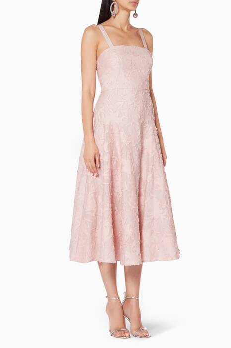 Light-Pink Orchid Midi Dress