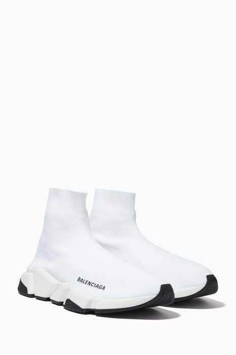 White Speed High-Top Sneakers