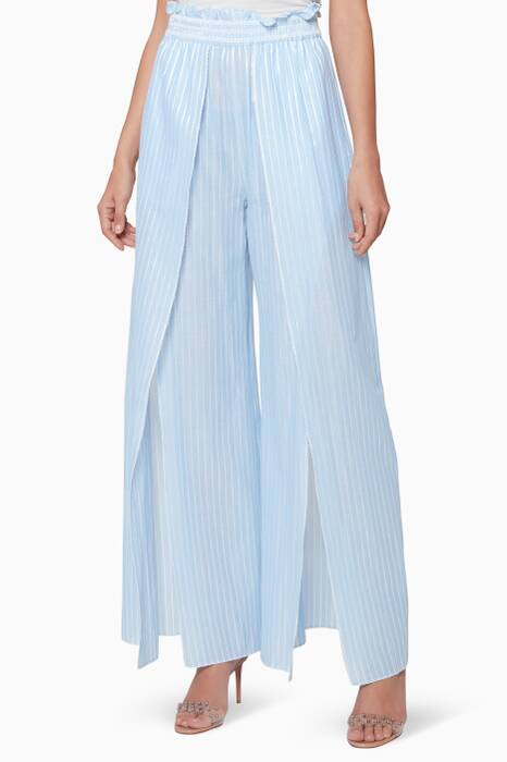 Light-Blue Stripped Fisherman Pants