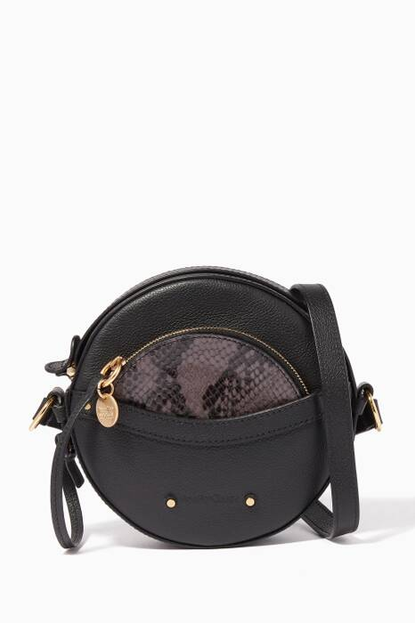 Black Rosy Round Shoulder Bag