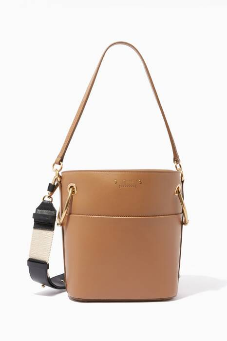 Nut-Brown Medium Roy Bucket Bag