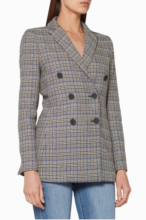 Grey Ziv Plaid Blazer