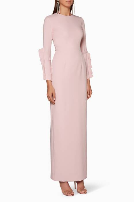 Light-Pink Omna Long Gown