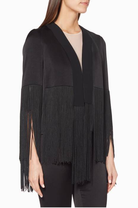 Black Fringed Cortado Jacket