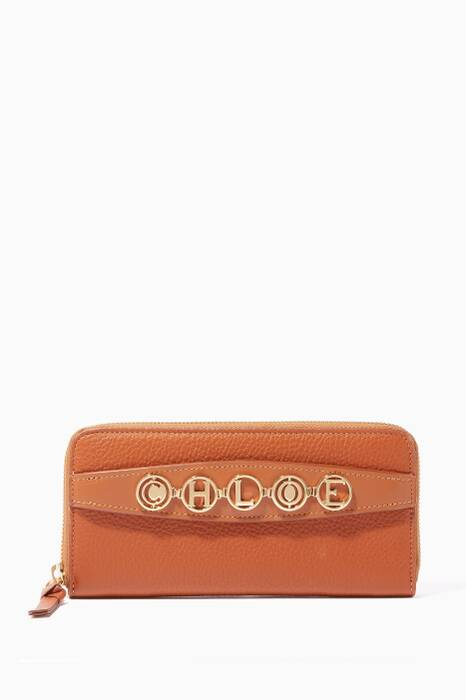 Tan-Brown Small Grained Leather Wallet