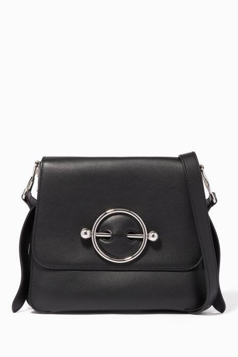Black Disc Shoulder Bag