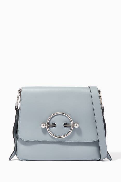 Light-Blue Disc Shoulder Bag