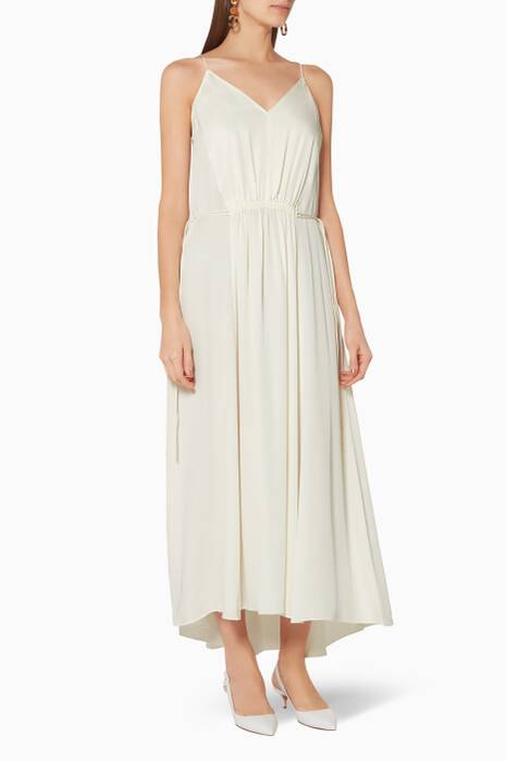 Ivory Sleeveless Maxi Dress