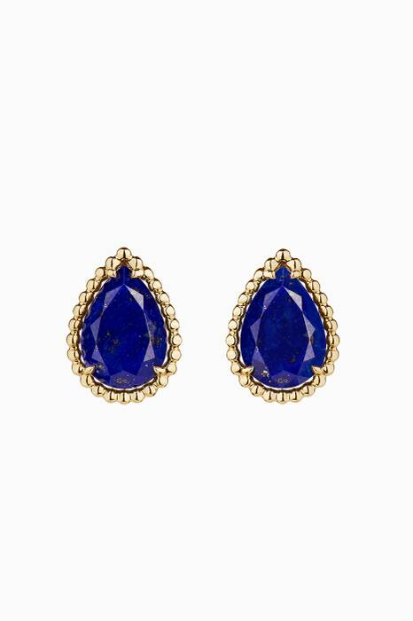Yellow-Gold & Lapis Lazuli Serpent Bohème Earrings