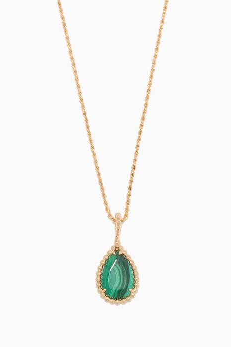 Yellow-Gold & Malachite Medium Serpent Bohème Necklace