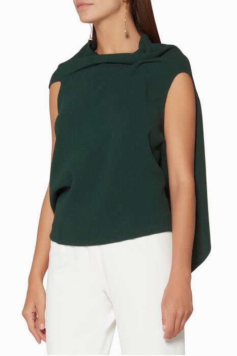 Dark-Green Draped Eugene Top