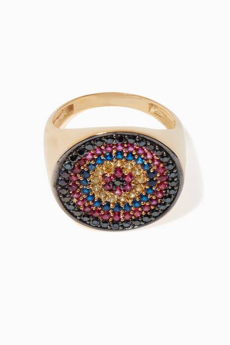 Multi-Coloured Tribal Signet Ring
