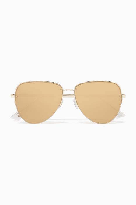 Gold Phantom Mirror Empress Sunglasses
