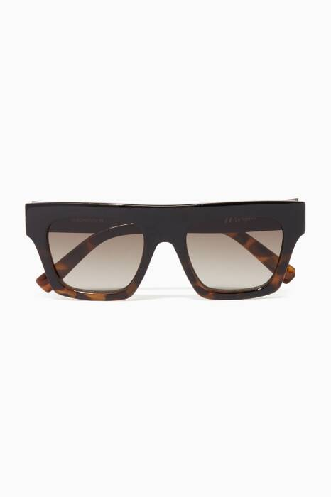 Black-Tortoise & Khaki-Gradient Subdimension Sunglasses