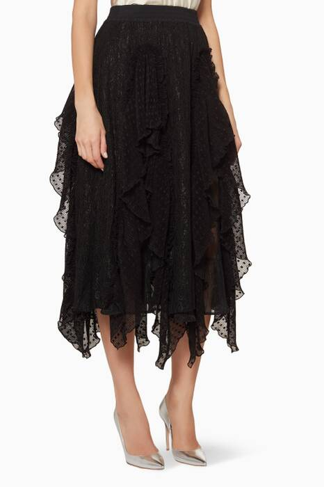Black Hocus Pocus Lace Skirt