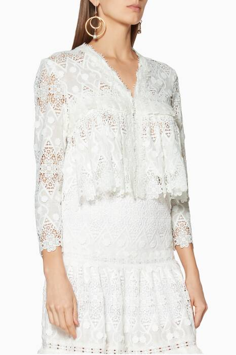 White Lace Betrice Top