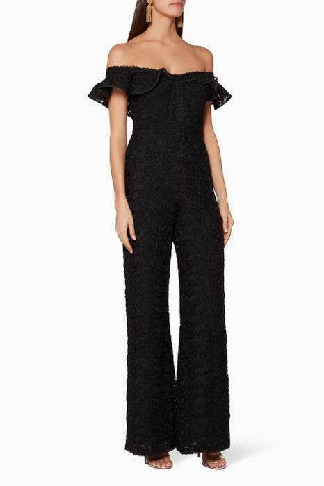 Black Off-The-Shoulder Edlyn Jumpsuit