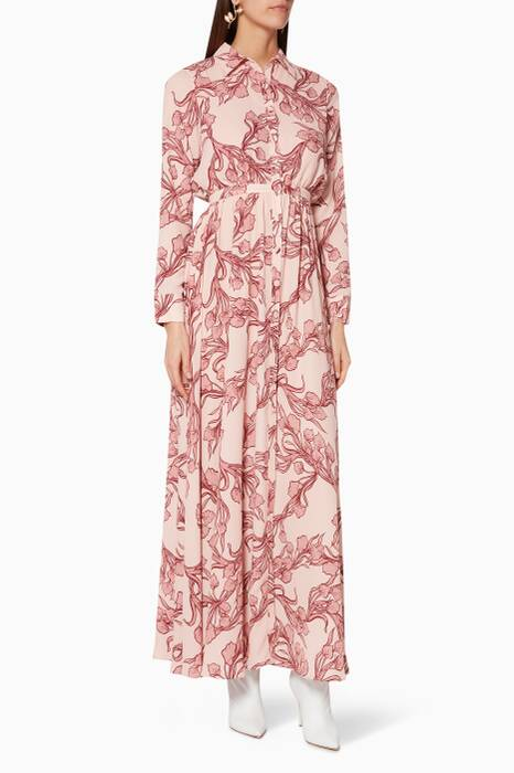 Light-Pink Floral-Print The Orianna Dress