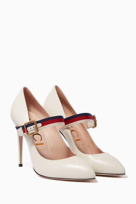White Sylvie Web Mary Jane Pumps