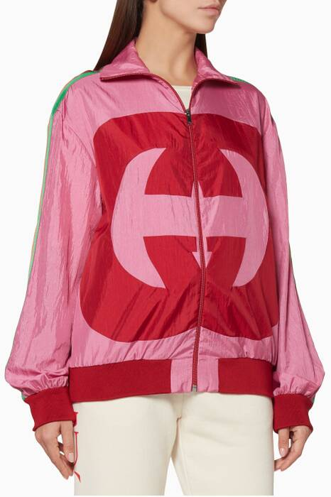 Pink Interlocking G Technical Jacket