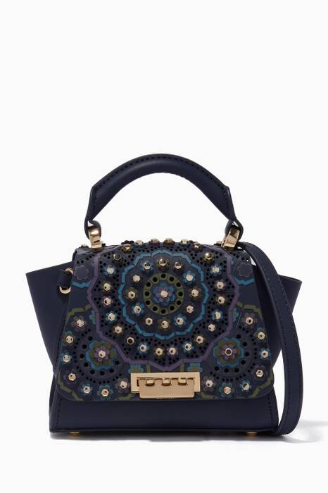 Navy Embellished Mini Eartha Tote Bag
