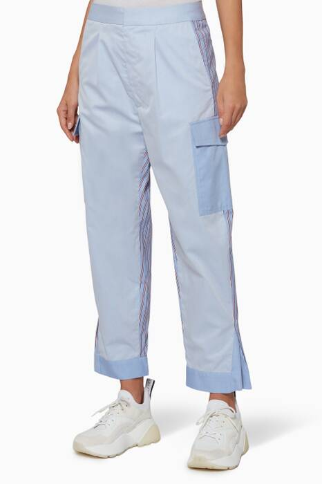 Light-Blue Cropped Cargo Pants