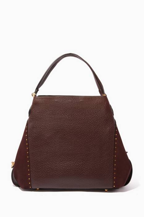 Oxblood Rivet Edie 42 Shoulder Bag