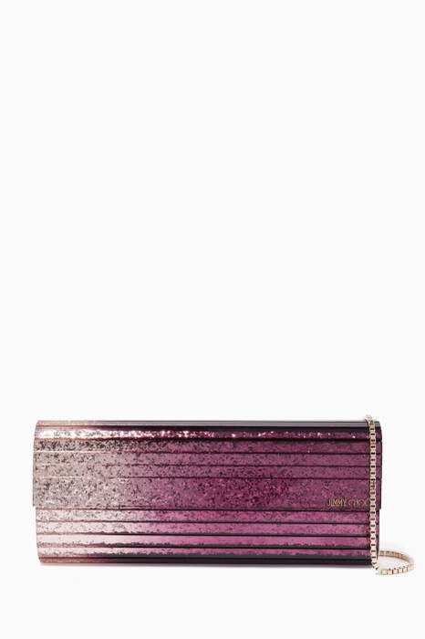 Grape & Champagne Sweetie Glitter Acrylic Clutch