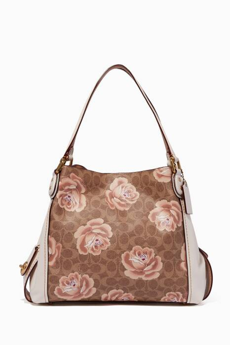 Chalk Signature Rose-Print Edie 31 Shoulder Bag