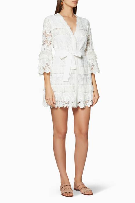 White Lace Noella Mini Dress