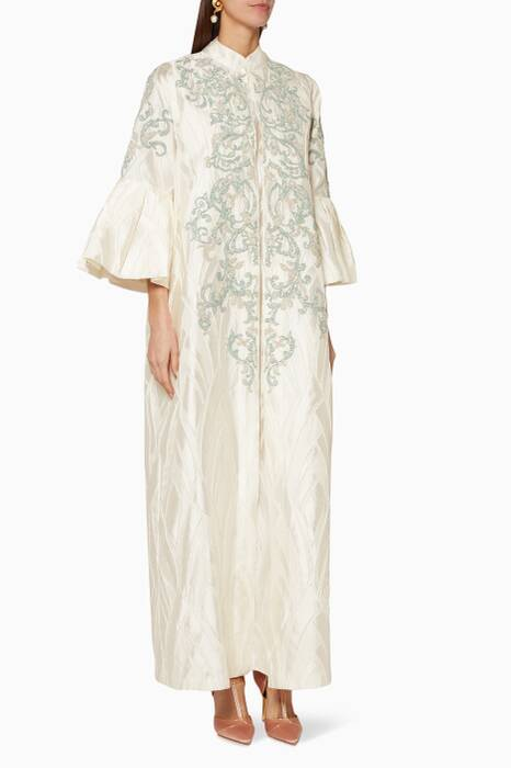 Off-White Beaded Kaftan