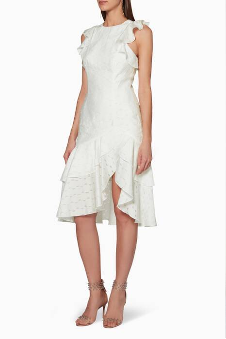 Ivory Ruffled Magnetise Dress