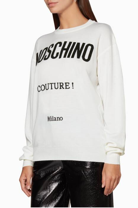 Off-White Long-Sleeve Logo Sweater