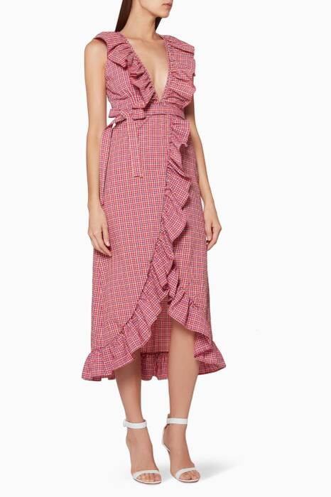 Pink Stella Wrap Dress