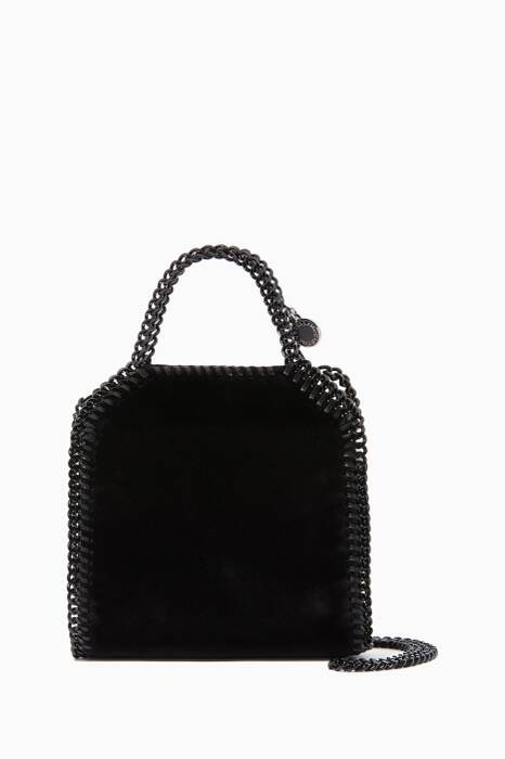 Black Tiny Falabella Velvet Cross-Body Bag