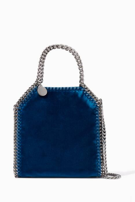Blue Tiny Falabella Velvet Cross-Body Bag