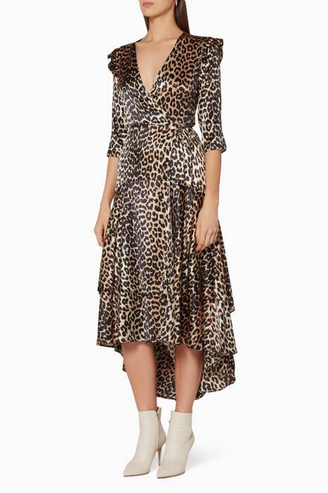 Leopard-Print Calla Wrap Dress