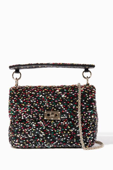 Multi-Coloured Medium Sequin Chain Shoulder Bag
