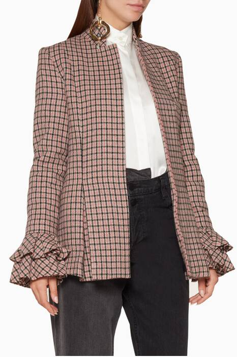 Pink Check Sheer Joy Blazer