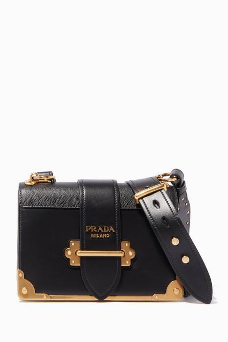 Black City Cahier Leather Cross-Body Bag