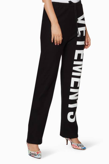 Black Logo Trackpants