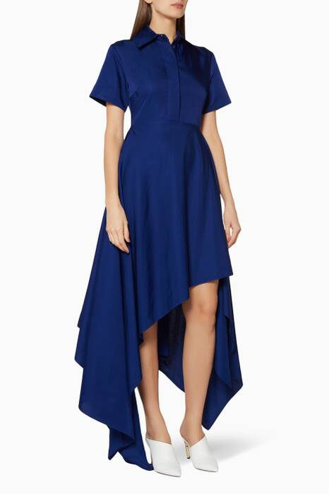 Blue Mia Asymmetrical Hem Dress