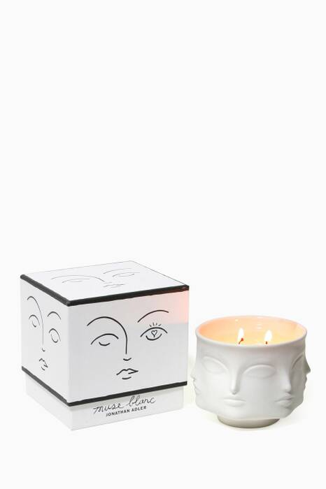 Muse Blanc Ceramic Candle, 369g