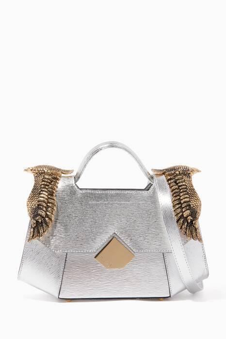 Silver Baby Colonel Verona Leather Shoulder Bag
