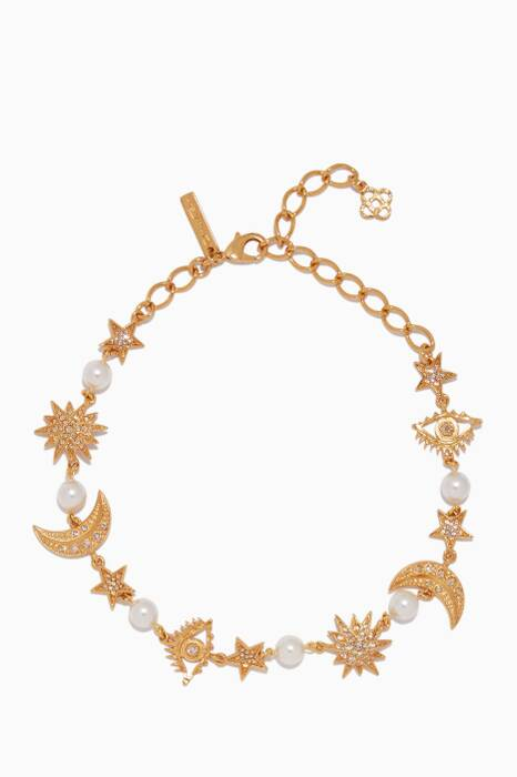 Gold Moon & Star Necklace