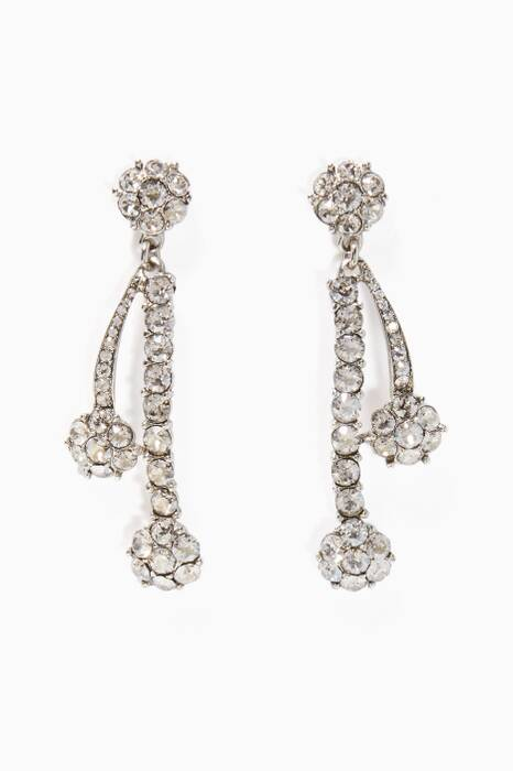 Silver Swarovski Crystal Drop Earrings