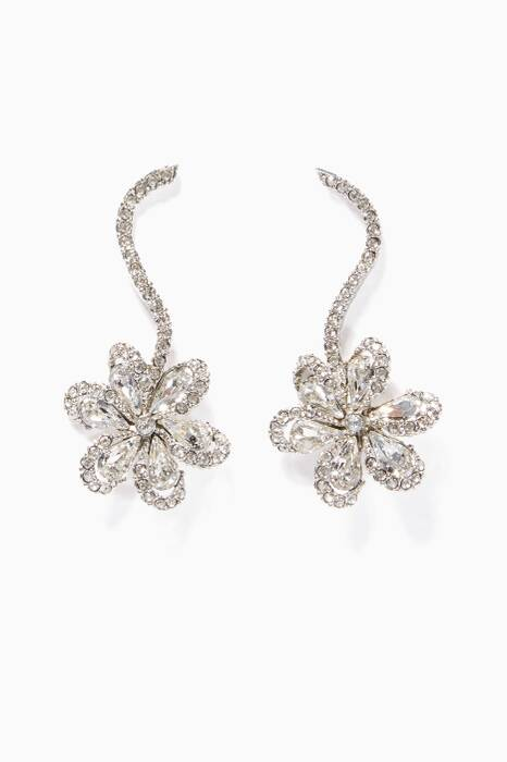 Silver Delicate Flower Earrings