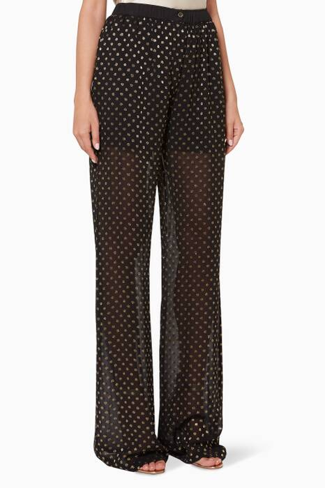 Black & Gold Polka-Dot Pants