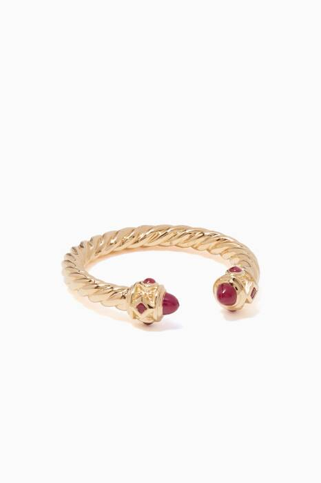 Yellow-Gold & Ruby Renaissance Ring